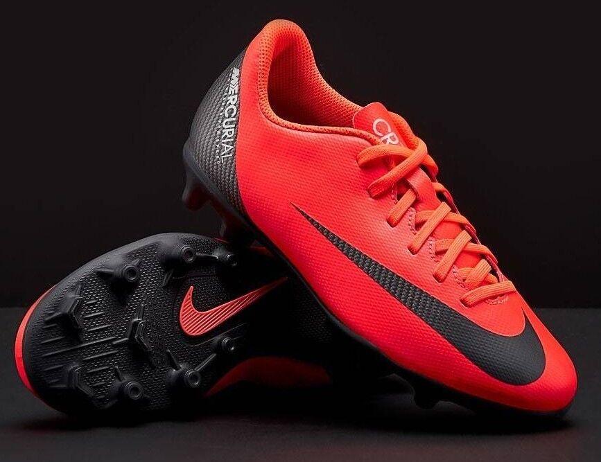 reputable site e612e 0b60b Nike MERCURIAL VAPOR 12 12 12 Club CR7 RONALDO JUNIOR FG MG Scarpe Da  Calcio CRIMSON 793c0b