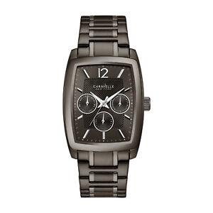 Caravelle-Men-039-s-45C111-Quartz-Multi-Dial-Black-Bracelet-34mm-Watch