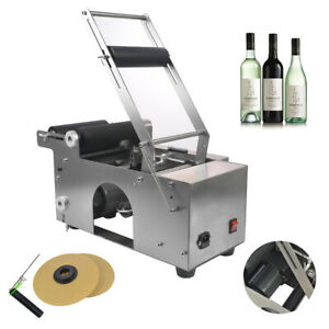 MT-50 Semi-Automatic Round Bottle Labeling Machine Alloy Scrolling Power-Save