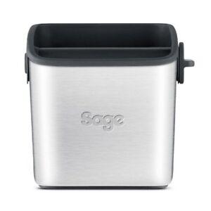 Sage-BES100GBUK-the-Knock-Box-Mini-Coffee-Grind-Bin-Silver