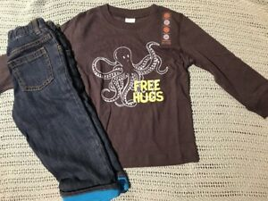 Gymboree Boys Octopus Tee /& Jean Shorts NWT NEW 2T Retail $51.90