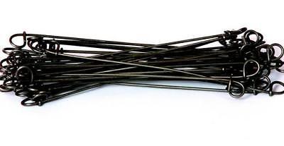 """7/"""" Double Loop Rebar Wire Tie 16BA7 16ga Black Annealed 5000 per bag"""