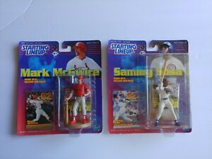 New in pack Lot of 2 Starting Line-up 1999 MLB Sammy Sosa & Mark McGire Figures