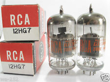 2 matched 1967 RCA 12HG7 tubes - TV7B tested @ 95, 96, min:46