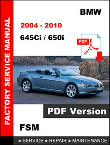 image is loading bmw-2004-2010-645ci-650i-service-repair-workshop-