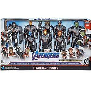 Marvel-Avengers-4-End-Game-Titan-Power-FX-Team-Pack-8-Figure-Hulk-Iron-Man-Set