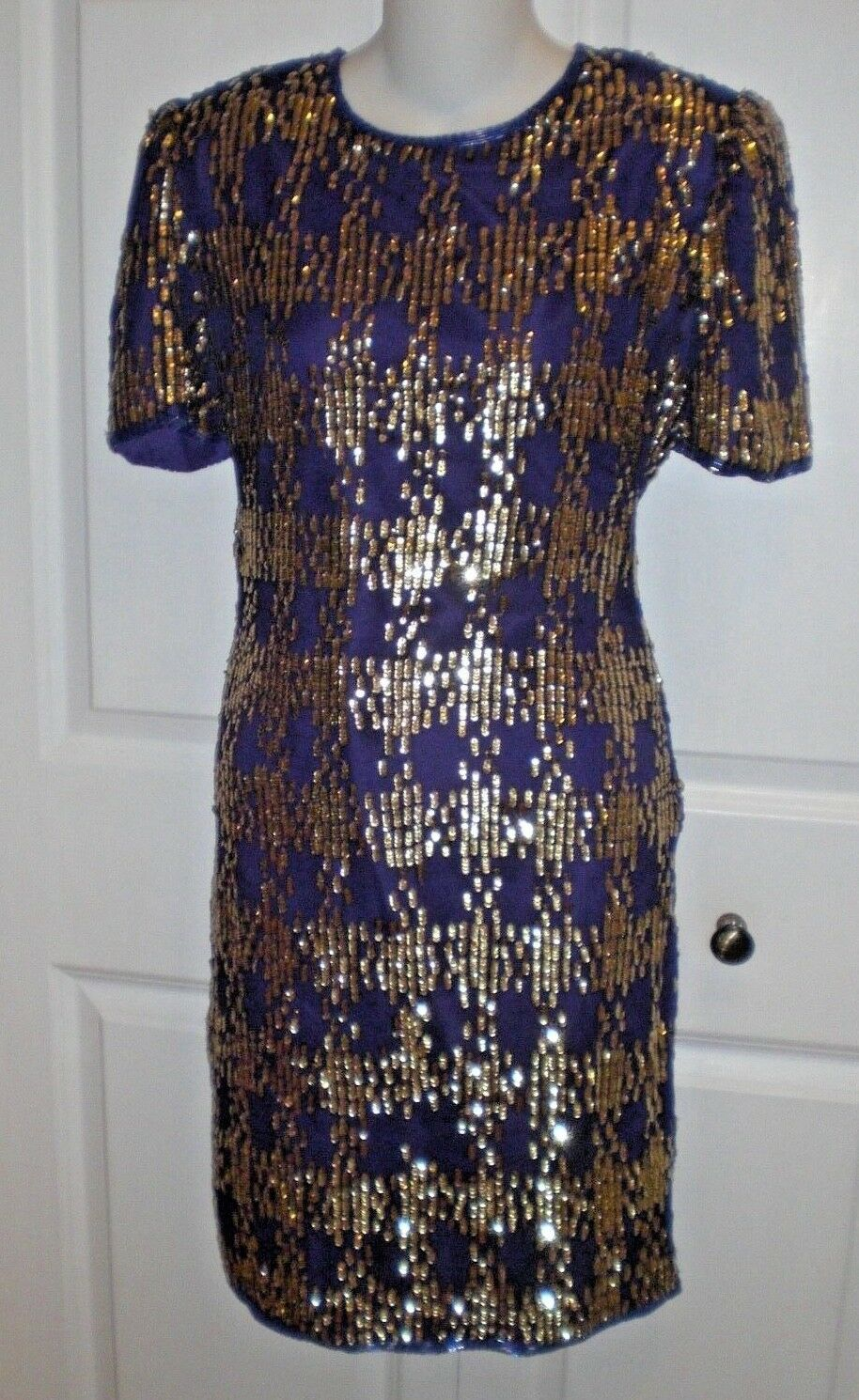 Laurence Kazar Sequined Vintage Rare Party DressOne of the kindS