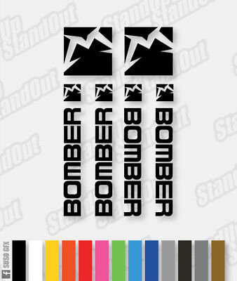 Custom Marzocchi 2014 Style BOMBER Decals Stickers Fluorescent Colours