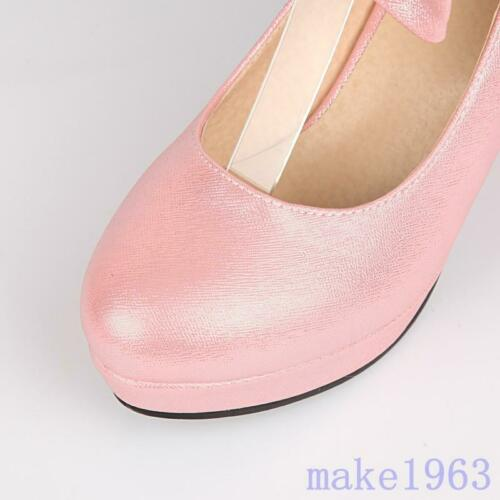 Details about  /Lolita Womens Mary Janes T-Strap Bow Tie High Heel Pumps Shoes 2020 Plus Size