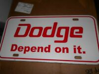 1960's 1970's Dodge Challenger Charger Ramcharger Dart Demon License Plate