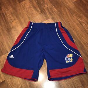 2fbd7d9f183d Image is loading Adidas-KANSAS-JAYHAWKS-Basketball-Shorts-Mens-MEDIUM-Sewn-