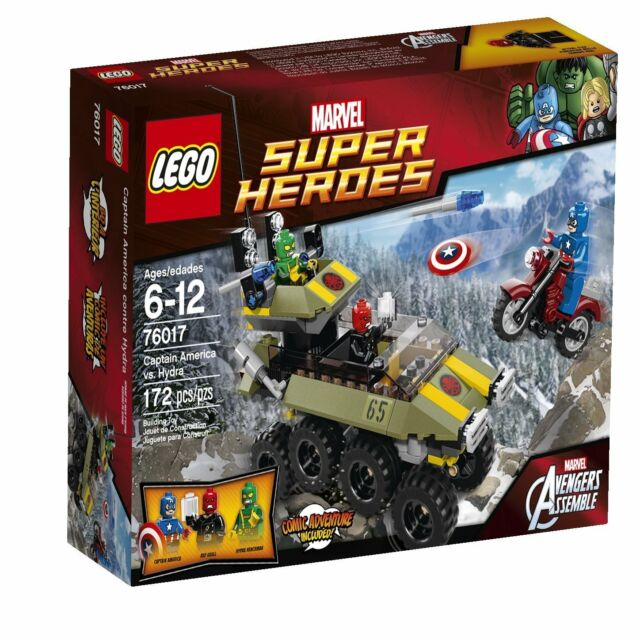 LEGO - Captain America vs. Hydra - Marvel Super Heroes 76017 - Brand New