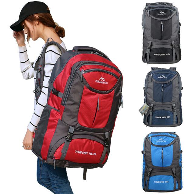 75L Large Waterproof Backpack Rucksack Hiking Camping Travel Bag Outdoor Bag New