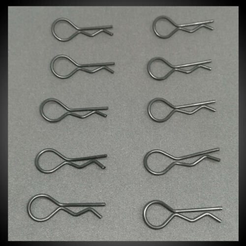 20x BLACK XL RC CAR BODY CLIPS 1//8 1//10 EXTRA LARGE PINS UK STOCK Pack of 20