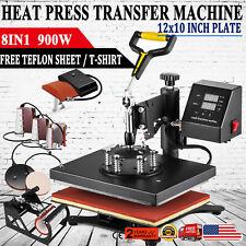 8 In 1 Digital T Shirt Heat Press Machine Sublimation For Mug Plate Hat Printer