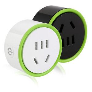 White Mini Smart Wifi Plug Remote Control Socket Power Supply Home Safety EM