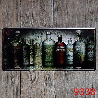 US Seller primitive home decor Absolut Vodka Drink Food Beverage tin metal sign