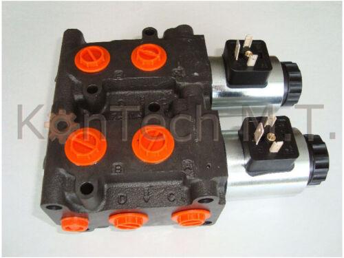 Leckölanschluss inkl HydraulikMagnetventil 8//3-Wegeventil NG06 24V DC Stecker