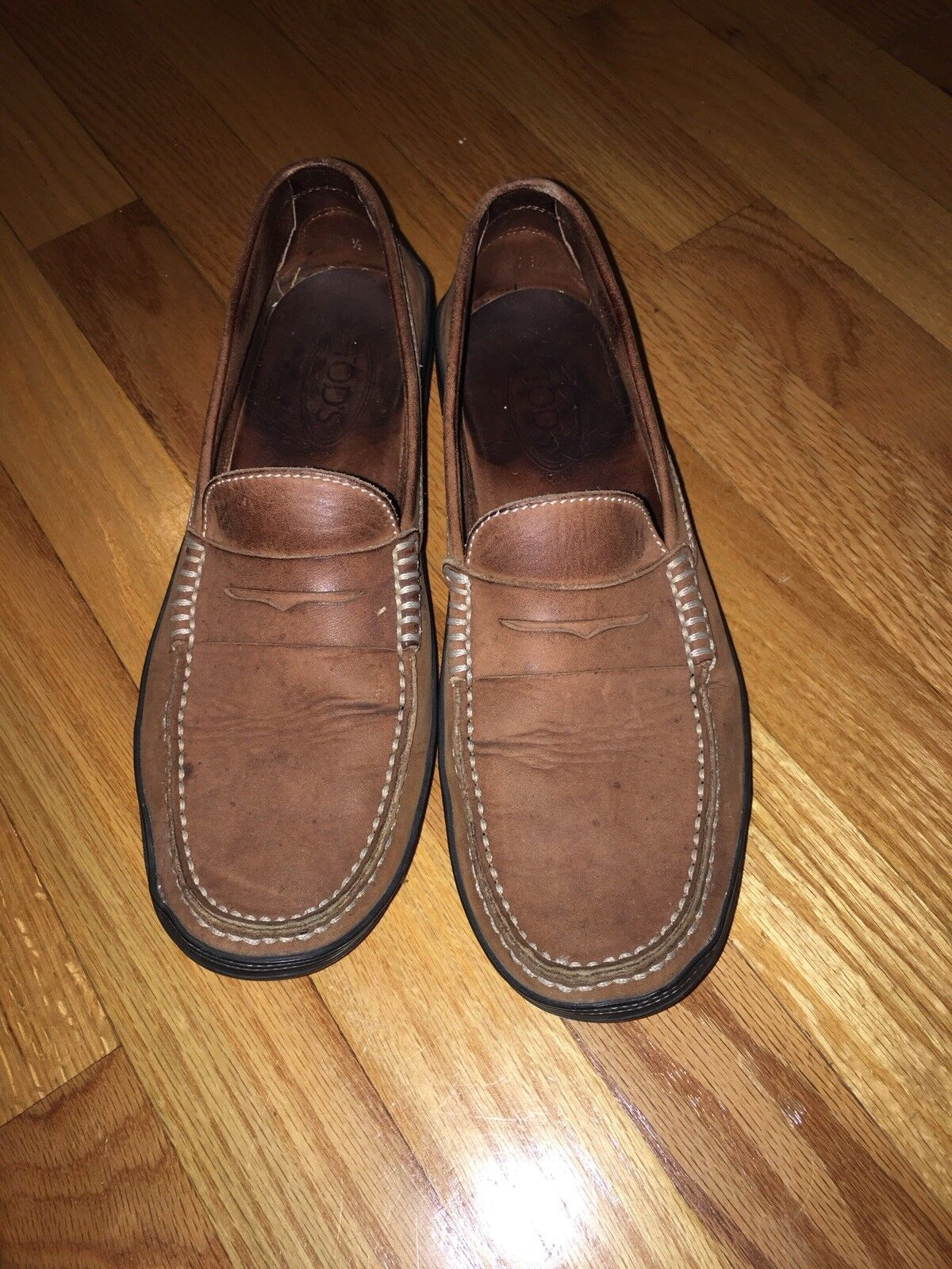 Tod's Marronee Leather Loafers 10