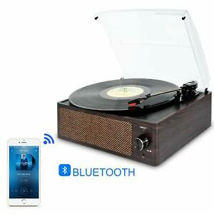 Record-Player-Vinyl-Player-Bluetooth-Vinyl-Turntable-LP-Belt-Drive-3-Speed