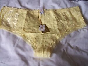 NEW OOLA LINGERIE WHITE DOTTY SOFT COTTON  PANTS PLUS SIZES 26-28 TO CLEAR!