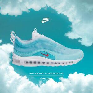 Detalles de Nike Max 97 oa dibujos animados en Air Shanghai Caleidoscopio luz Aqua Blanco Air CI1508 400 ver título original