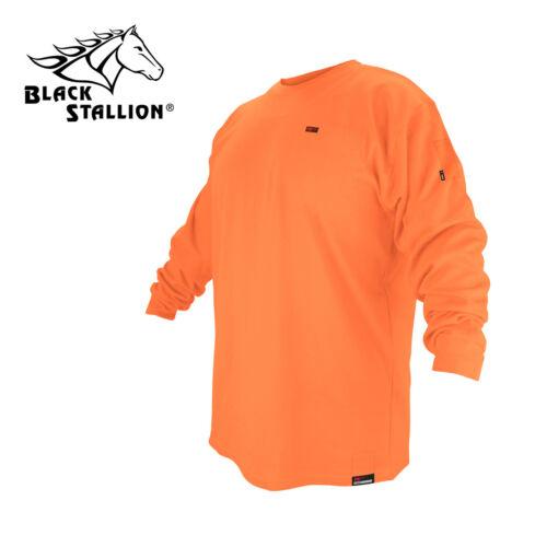 Size Large Safety Orange Long Sleeve Revco Black Stallion FR T-Shirt