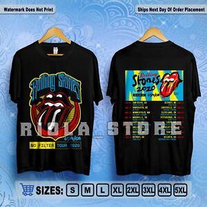 The Rolling Stones USA//CA No Filter Tour 2020 Concert T-Shirt Black Size S-5XL