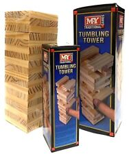Tumbling Tower Building Block Game Wooden Stacking Board Family Game - Assorted.