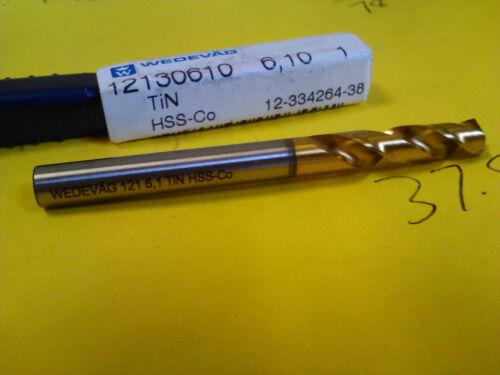 .2402 6.1mm HSCO TiN STUB DRILL