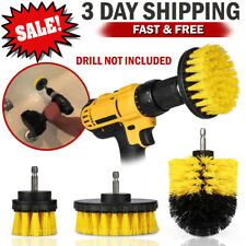 Power Scrubber Drill Brush Set Spin Bathroom Tub Shower Tile Grout Wall Cleaner