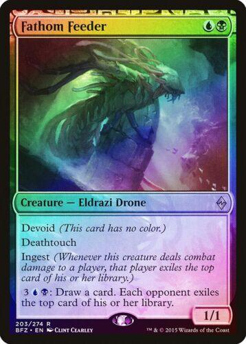 Fathom Feeder FOIL Battle for Zendikar NM-M Rare MAGIC GATHERING CARD ABUGames