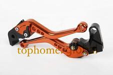 For KTM RC8//R 2009-2016 Short CNC Brake Clutch Levers Orange 2010 2011 2012 2013