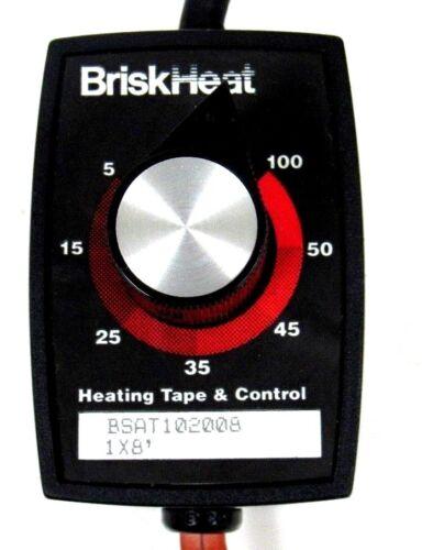 NEW BRISKHEAT BSAT102006 HEATING TAPE WITH PERCENTAGE CONTROL