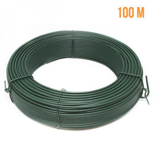 Linxor France ® voltage wire galvanized steel laminated green 100m x