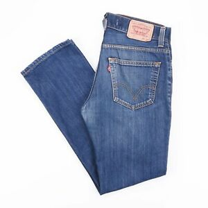 Vintage-LEVI-039-S-511-SLIM-STRAIGHT-FIT-MEN-039-S-BLUE-JEANS-W36-L31