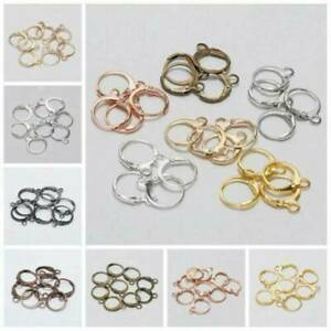 20pcs 15*12mm French Lever Earring Hooks Wire Settings Base Hoops For DIY Making