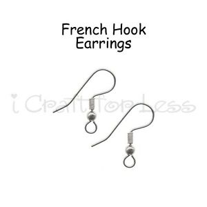 100 French Hook Ear Wire Stainless Steel