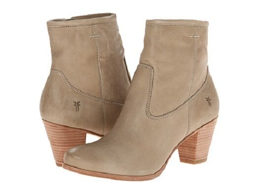 New in box Womens Frye Paulina Artisan Zip Bone Ankle Boots Size 9 MSRP $ 368