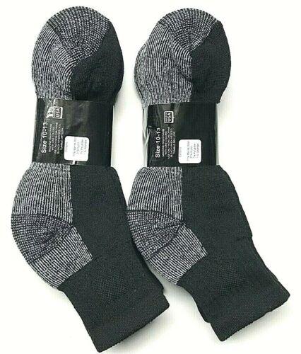 3 6 Pair Premium Men/'s 71/% Merino Wool Black Ankle Sock Size 10-13 Made in USA