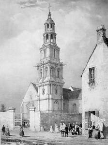 FRANCE-Bayeux-Saint-Patrick-Cathedral-SUPERB-Litho-Antique-Print