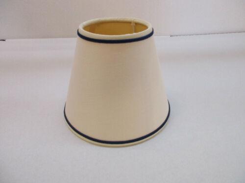 Lampenschirm Stoffschirm mit Aufnahme E14//unten weiss//blau
