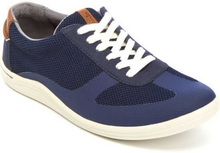 Clarks Men's Mapped Vibe Blue Combi Leather Lace Up Shoes UK 7.5 G