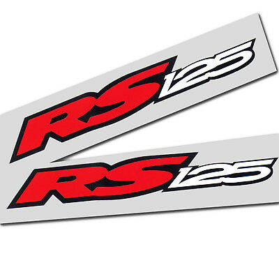 Aprilia Rs 125 Motorcycle Graphics Stickers Decals X 2 Red White Black Smaller Ebay