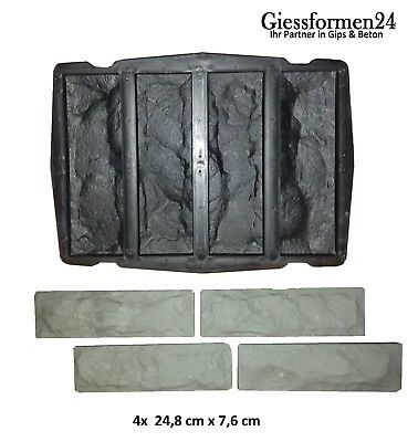 Gips Riemchen 4-fach Struktur Erfrischung Schalungsformen Gießformen Für Beton Abformen Klinker