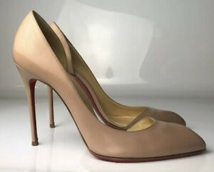 CHRISTIAN LOUBOUTIN PIGALLE PLATO 120MM NUDE PATENT - Reed