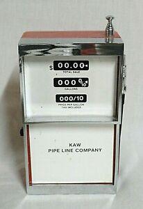 LOOK! 1970`S KAW PIPE LINE GAS PUMP NOVELTY AM-FM TRANSISTOR RADIO STILL WORKS!