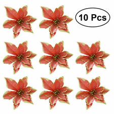 3 Rose Gold Glitter Poinsettia Flowers Wreath Flower Christmas