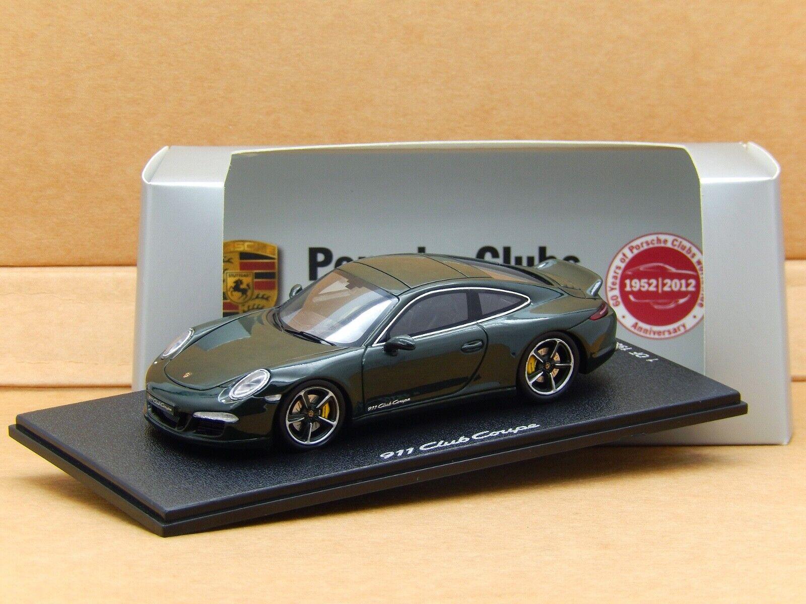 1 43 PORSCHE 911 CLUB COUPE 991 Brewster Vert Spark Résine concessionnaire modèle rare