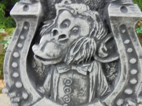 Pierre personnage singe avec beaucoup de chance Jardin Décoration Décoration murale au gel STEINGUß